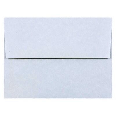 JAM Paper® A2 Invitation Envelopes, 4 3/8 x 5 3/4, Parchment Blue Recycled, 1000/carton (10197B)