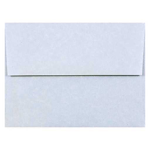 JAM Paper® A2 Parchment Invitation Envelopes, 4.375 x 5.75, Blue Recycled, 50/Pack (10197I)