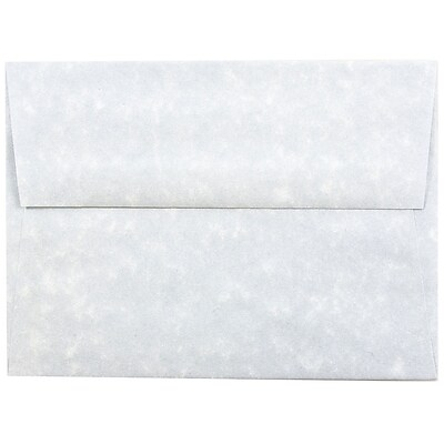 JAM Paper® A6 Invitation Envelopes, 4.75 x 6.5, Parchment Blue Recycled, 50/pack (10296I)