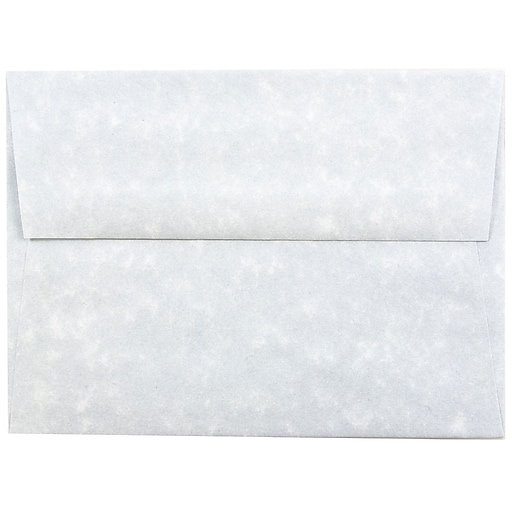 JAM Paper® A6 Parchment Invitation Envelopes, 4.75 x 6.5, Blue Recycled, 50/Pack (10296I)