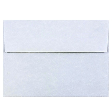 JAM Paper® A7 Invitation Envelopes, 5.25 x 7.25, Parchment Blue Recycled, 25/pack (10379)