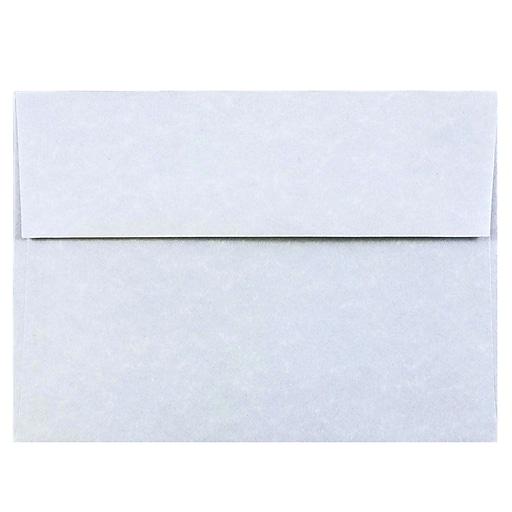 JAM Paper® A7 Parchment Invitation Envelopes, 5.25 x 7.25, Blue Recycled, Bulk 1000/Carton (10379B)