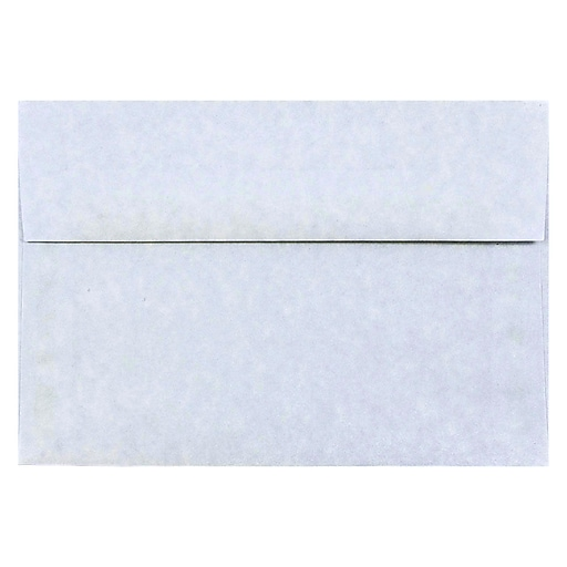 JAM Paper® A8 Parchment Invitation Envelopes, 5.5 x 8.125, Blue Recycled, 25/Pack (10411)