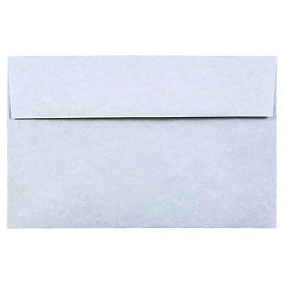 JAM Paper® A10 Invitation Envelopes, 6 x 9.5, Parchment Blue Recycled, 50/pack (10486I)