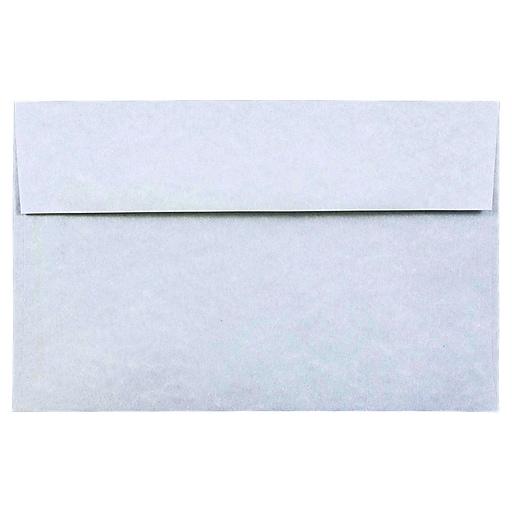 JAM Paper® A10 Parchment Invitation Envelopes, 6 x 9.5, Blue Recycled, Bulk 1000/Carton (10486B)