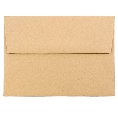 JAM Paper® A6 Invitation Envelopes, 4.75 x 6.5, Ginger Brown Recycled, 25/pack (11179)