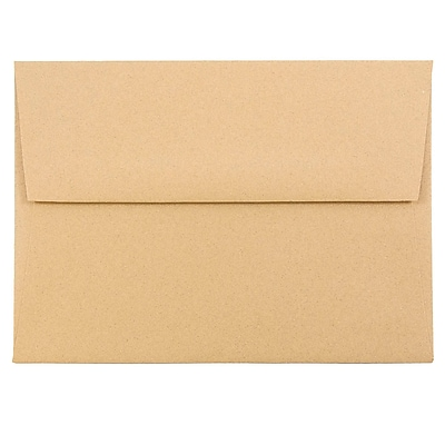 JAM Paper® A6 Invitation Envelopes, 4.75 x 6.5, Ginger Brown Recycled, 1000/carton (11179B)