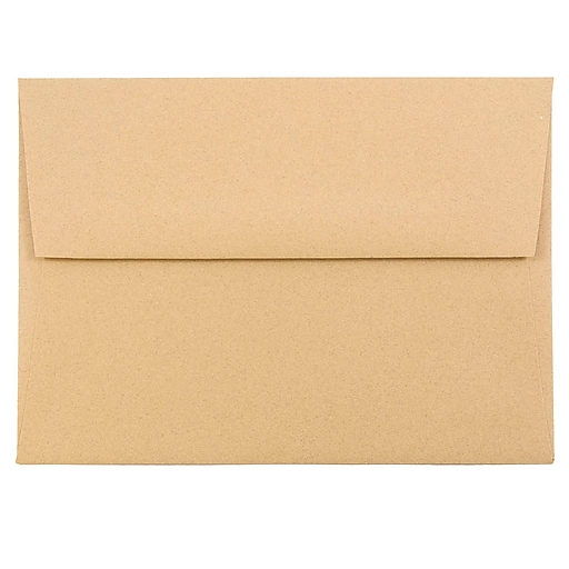 JAM Paper® A6 Passport Invitation Envelopes, 4.75 x 6.5, Ginger Brown Recycled, 25/Pack (11179)