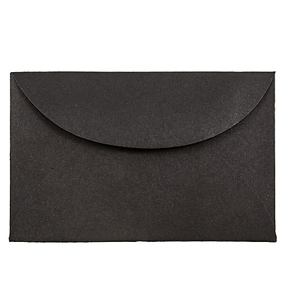 JAM Paper® 3drug Mini Small Envelopes, 2 5/16 x 3 5/8, Black Linen Recycled, 25/pack (13238)