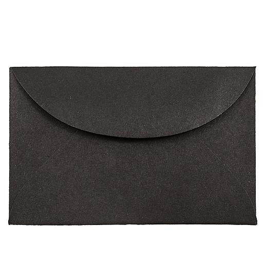 JAM Paper® 3Drug Mini Envelopes, 2.3125 x 3.625, Black Linen, Bulk 1000/Carton (13238B)