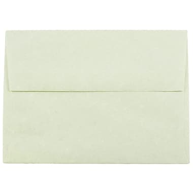 JAM Paper® A6 Invitation Envelopes, 4.75 x 6.5, Parchment Green Recycled, 1000/carton (13278B)