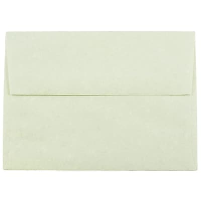 JAM Paper® A6 Invitation Envelopes, 4.75 x 6.5, Parchment Green Recycled, 250/box (13278H)