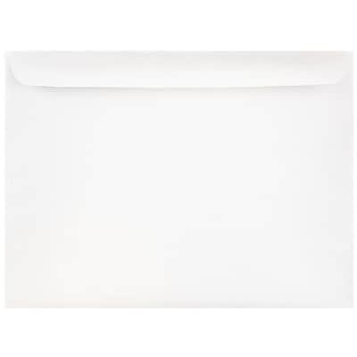 JAM Paper® 9 1/2 x 12 5/8 Booklet Envelopes, White, 100/pack (953454B)