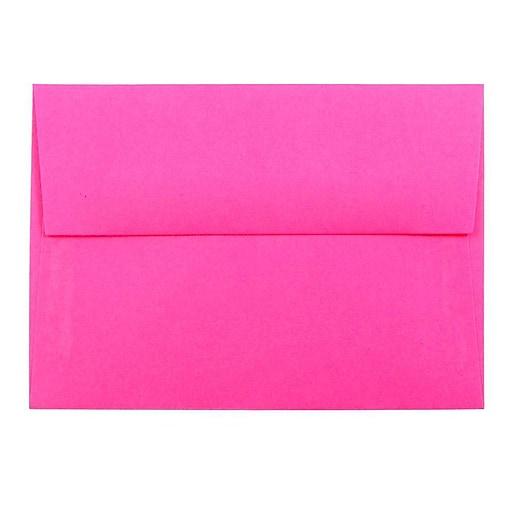 JAM Paper® 4Bar A1 Colored Invitation Envelopes, 3.625 x 5.125, Ultra Fuchsia Pink, Bulk 250/Box (15790H)