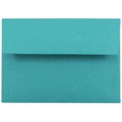 JAM Paper® 4bar A1 Envelopes, 3 5/8 x 5 1/8, Brite Hue Sea Blue Recycled, 250/box (15794H)