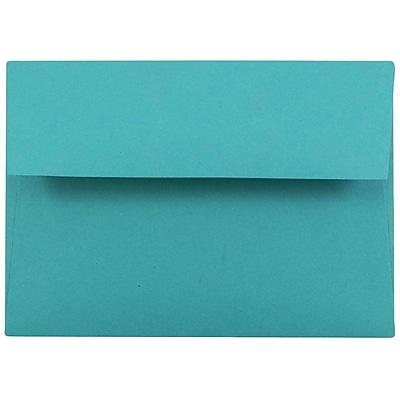 JAM Paper® 4bar A1 Envelopes, 3 5/8 x 5 1/8, Brite Hue Sea Blue Recycled, 25/pack (15794)