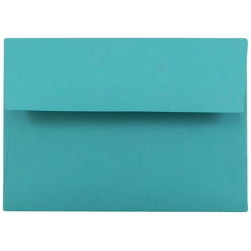JAM Paper® 4Bar A1 Colored Invitation Envelopes, 3.625 x 5.125, Sea Blue Recycled, 50/Pack (15794I)
