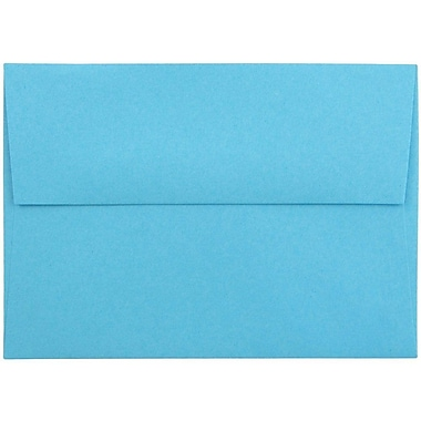 JAM Paper® 4bar A1 Envelopes, 3 5/8 x 5 1/8, Brite Hue Blue Recycled, 50/pack (15805I)