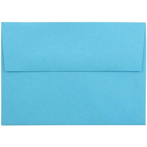 JAM Paper® 4Bar A1 Colored Invitation Envelopes, 3.625 x 5.125, Blue Recycled, 25/Pack (15805)