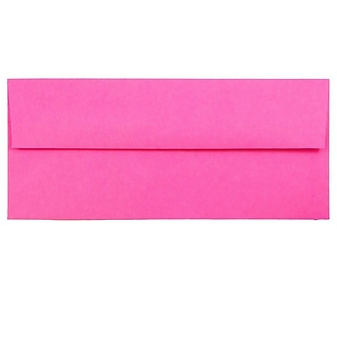 JAM Paper® #10 Business Envelopes, 4 1/8 x 9 1/2, Brite Hue Ultra Fuchsia Pink, 25/pack (15847)