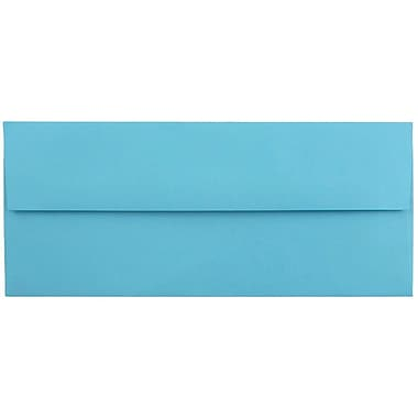 JAM Paper® #10 Business Envelopes, 4 1/8 x 9 1/2, Brite Hue Blue Recycled, 50/pack (15861I)