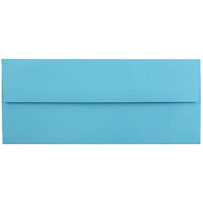 JAM Paper® #10 Business Envelopes, 4 1/8 x 9 1/2, Brite Hue Blue Recycled 1000/carton (15861B)