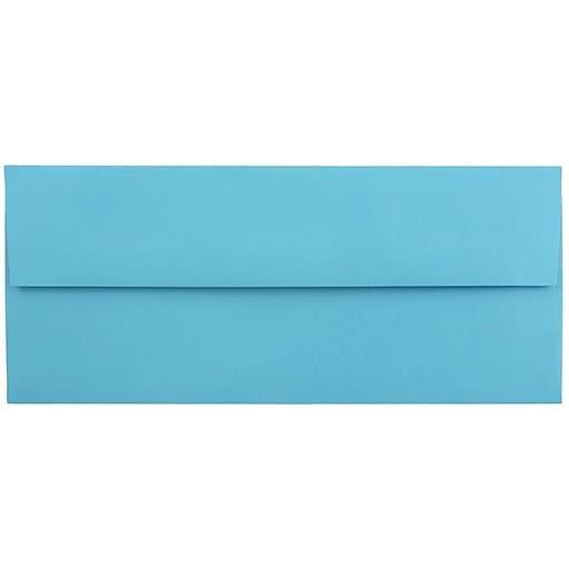 JAM Paper® #10 Business Colored Envelopes, 4.125 x 9.5, Blue Recycled, Bulk 1000/Carton (15861B)