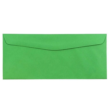 JAM Paper® #10 Business Envelopes, 4 1/8 x 9 1/2, Brite Hue Green Recycled, 1000/carton (15862B)