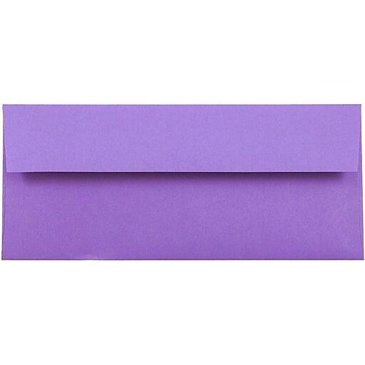 JAM Paper® #10 Business Colored Envelopes, 4.125 x 9.5, Violet Purple Recycled, Bulk 1000/Carton (15864B)
