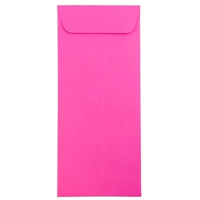 JAM Paper® #10 Policy Envelopes, 4 1/8 x 9 1/2, Brite Hue Ultra Fuchsia Pink, 50/pack (15865I)