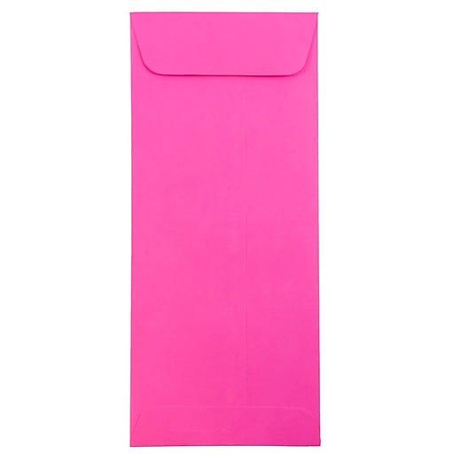 JAM Paper® #10 Policy Business Colored Envelopes, 4.125 x 9.5, Ultra Fuchsia Pink, Bulk 1000/Carton (15865B)