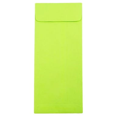 JAM Paper® #10 Policy Envelopes, 4 1/8 x 9.5, Brite Hue Ultra Lime Green, 100/Pack (15870g)