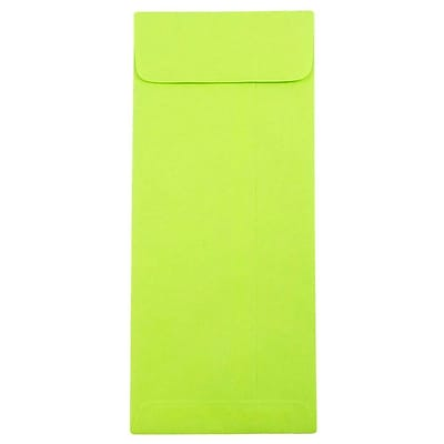 JAM Paper® #10 Policy Envelopes, 4 1/8 x 9 1/2, Brite Hue Ultra Lime Green, 25/pack (15870)