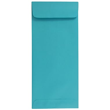 JAM Paper® #10 Policy Envelopes, 4 1/8 x 9 1/2, Brite Hue Sea Blue Recycled, 1000/carton (15874B)