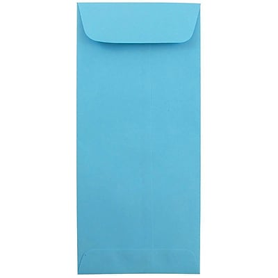 JAM Paper® #10 Policy Envelopes, 4 1/8 x 9 1/2, Brite Hue Blue Recycled, 50/pack (15880I)
