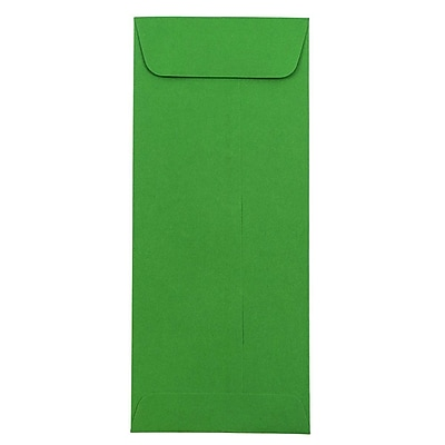 JAM Paper® #10 Policy Envelopes, 4 1/8 x 9 1/2, Brite Hue Green Recycled, 50/pack (15884I)