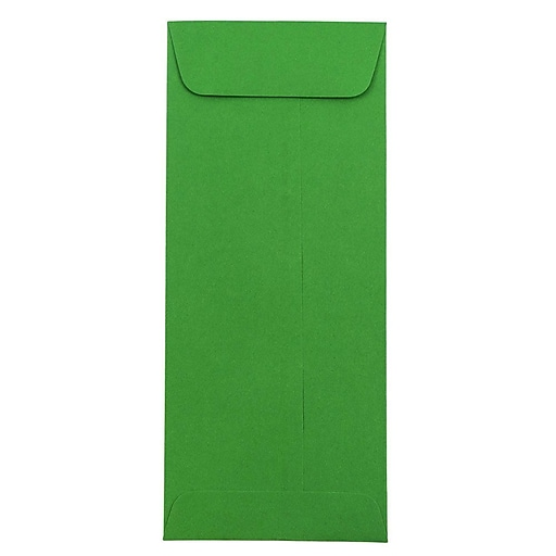 JAM Paper® #10 Policy Business Colored Envelopes, 4.125 x 9.5, Green Recycled, Bulk 1000/Carton (15884B)