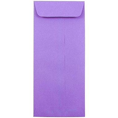 JAM Paper® #10 Policy Envelopes, 4 1/8 x 9 1/2, Brite Hue Violet Purple Recycled, 1000/carton (15886B)