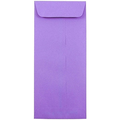 JAM Paper® #10 Policy Envelopes, 4 1/8 x 9 1/2, Brite Hue Violet Purple Recycled, 25/pack (15886)