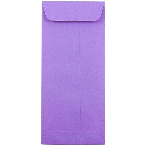 JAM Paper® #10 Policy Business Colored Envelopes, 4.125 x 9.5, Violet Purple Recycled, 50/Pack (15886I)