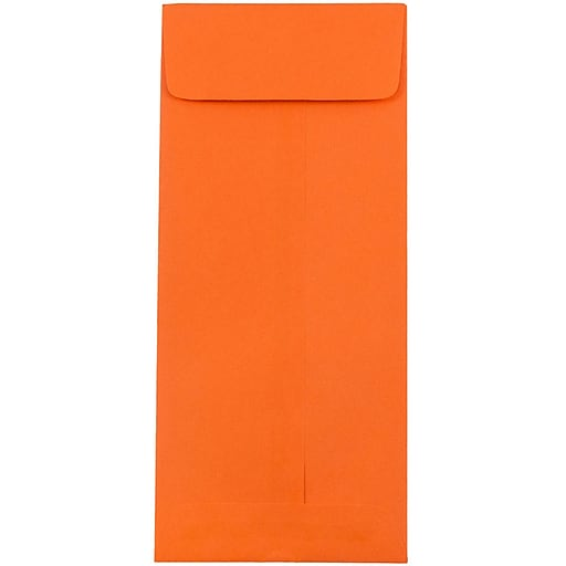 JAM Paper® #10 Policy Business Colored Envelopes, 4.125 x 9.5, Orange Recycled, 50/Pack (15887I)