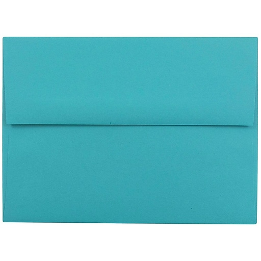 JAM Paper® A6 Colored Invitation Envelopes, 4.75 x 6.5, Sea Blue Recycled, 25/Pack (15903)