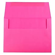JAM Paper® A7 Colored Invitation Envelopes, 5.25 x 7.25, Ultra Fuchsia Pink, 25/Pack (15916)