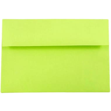 JAM Paper® A8 Invitation Envelopes, 5.5 x 8.125, Brite Hue Ultra Lime Green, 25/pack (15955)