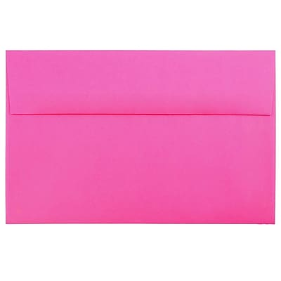 JAM Paper® A10 Invitation Envelopes, 6 x 9.5, Brite Hue Ultra Fuchsia Pink, 250/box (16577H)