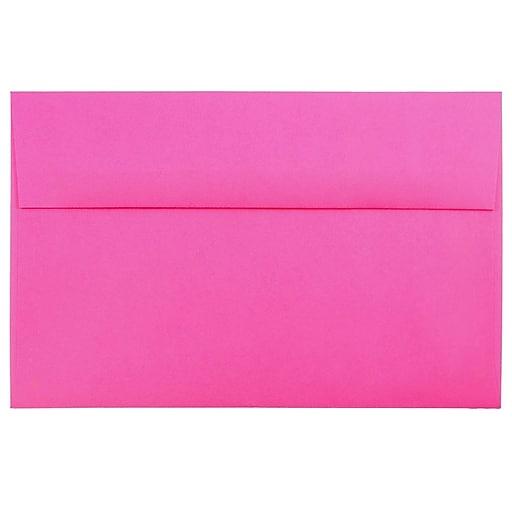 JAM Paper® A10 Colored Invitation Envelopes, 6 x 9.5, Ultra Fuchsia Pink, 50/Pack (16577I)