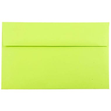JAM Paper® A10 Invitation Envelopes, 6 x 9.5, Brite Hue Ultra Lime Green, 50/pack (20835I)