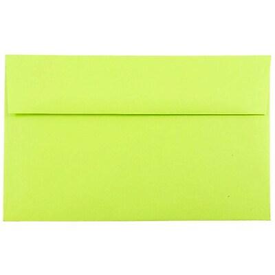 JAM Paper® A10 Invitation Envelopes, 6 x 9.5, Brite Hue Ultra Lime Green, 50/pack (20835I)