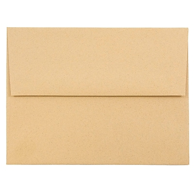 JAM Paper® A2 Invitation Envelopes, 4 3/8 x 5 3/4, Ginger Brown Recycled, 1000/carton (21545B)