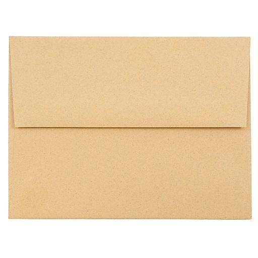 JAM Paper® A2 Passport Invitation Envelopes, 4.375 x 5.75, Ginger Brown Recycled, Bulk 1000/Carton (21545B)